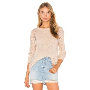 Anthropologie One Grey Day Cora Knit Sweater NWT